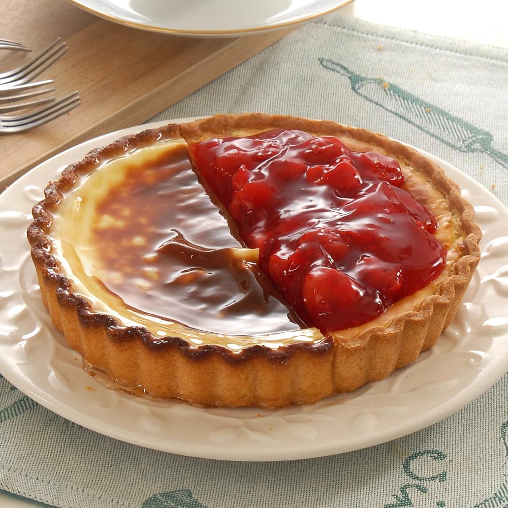 烤布丁紅櫻桃雙享派6吋