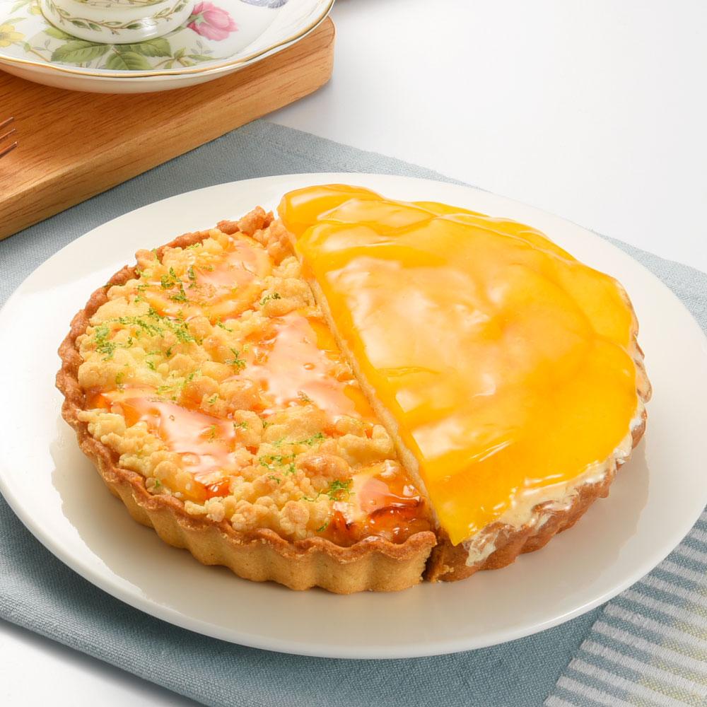 橙香起司水蜜桃雙享派6吋
