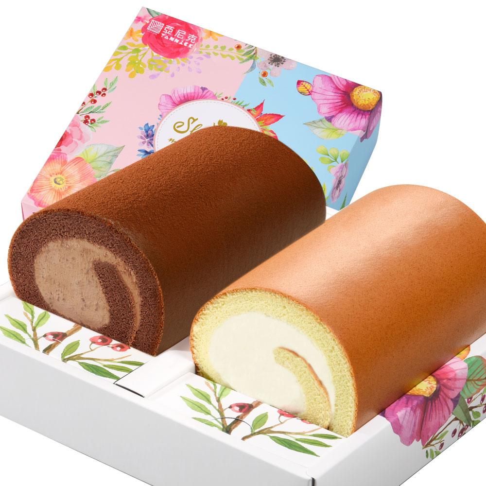 雙捲禮盒-原味+厚巧克力