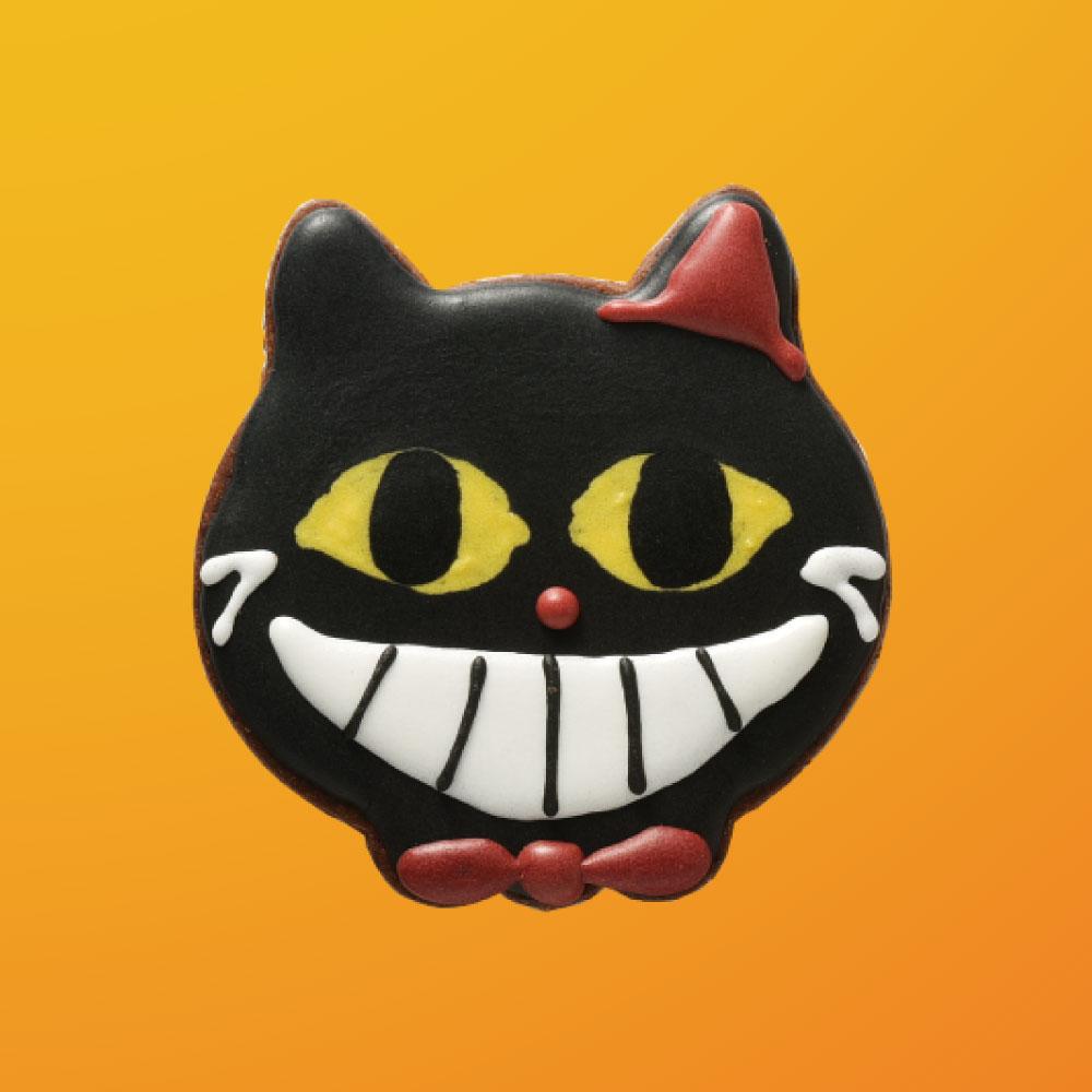 糖霜餅乾-裂嘴黑貓
