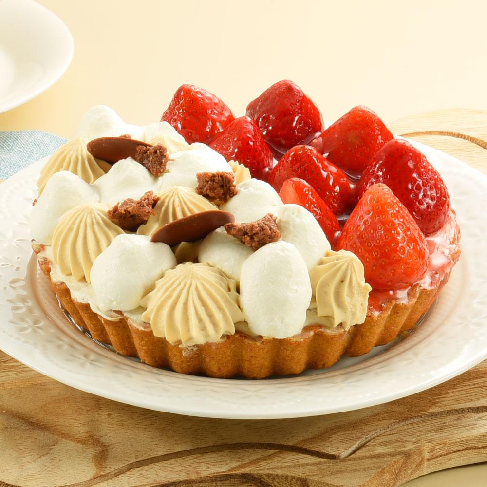 鮮莓焦糖雙享派